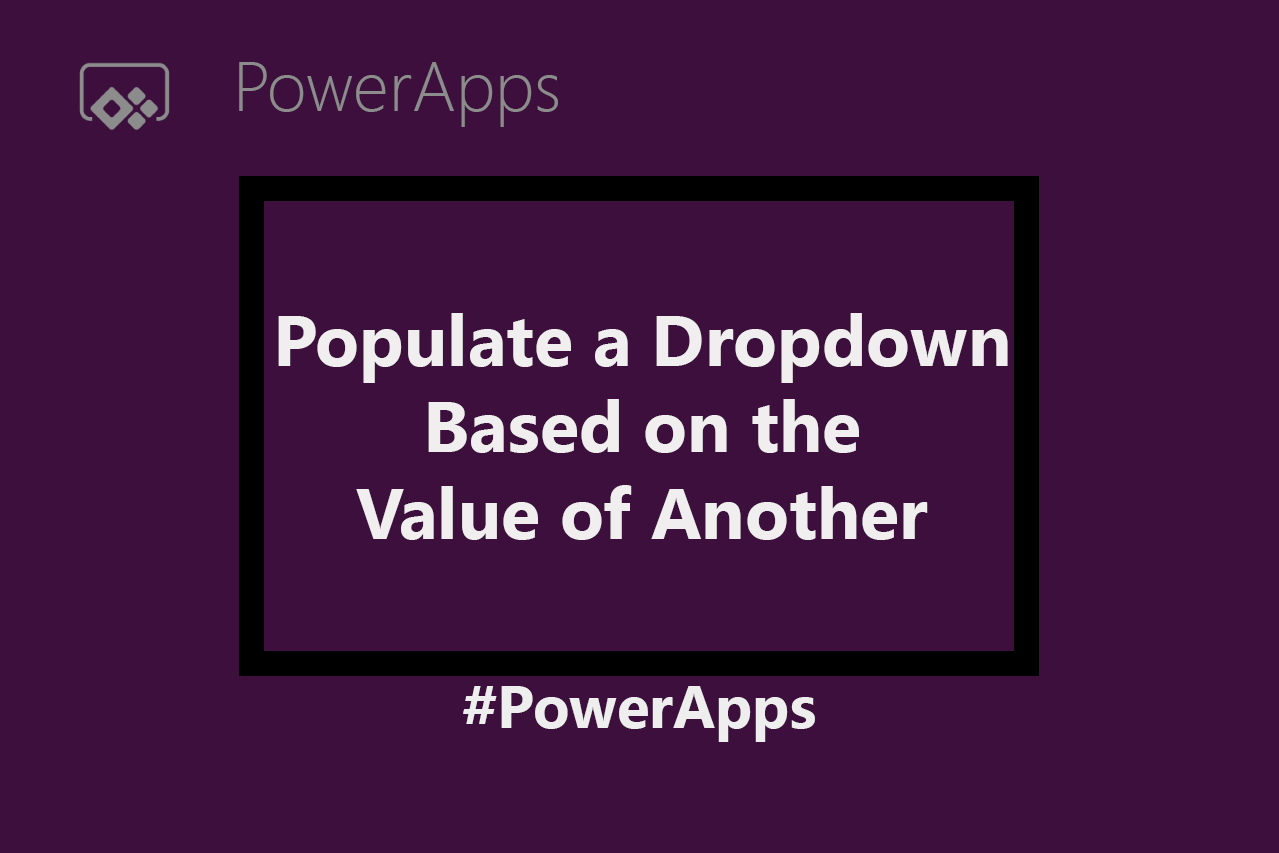 Populate a Dropdown Based on the Value of Another Dropdown